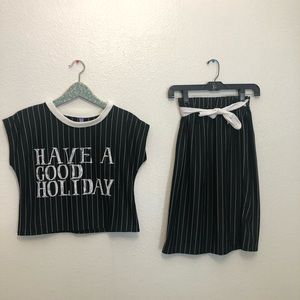 Nightmare before Christmas 2 piece outfit